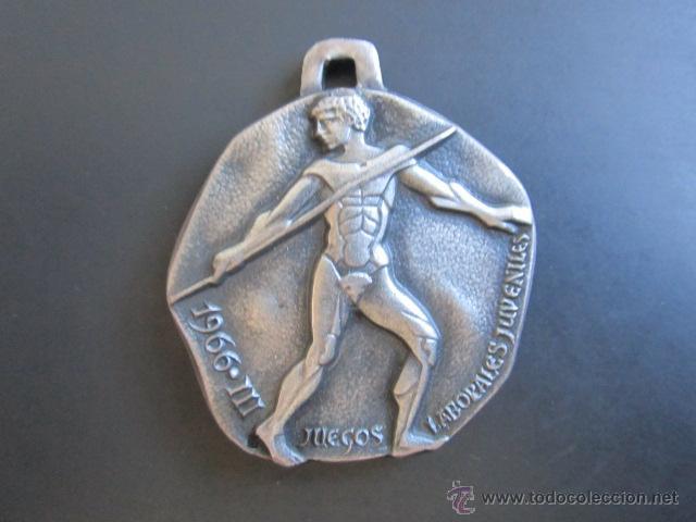 MEDALLA JUEGOS LABORALES JUVENTUDES, 1966. REVERSO SIN GRABAR. (Coleccionismo Deportivo - Medallas, Monedas y Trofeos - Otros deportes)