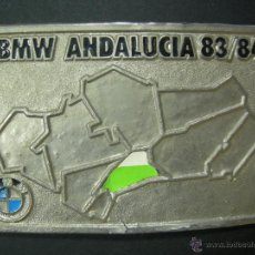 Coleccionismo deportivo: PLACA IDENTIFICATIVA DE PILOTO DEL RALLY BMW ANDALUCIA 83/84 DE BERNARD BEGUIN. Lote 48722951
