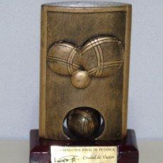 Coleccionismo deportivo: TROFEO RECUERDO DEL VII TORNEO DE PETANCA DE CIUDAD DE VIATOR, ALMERÍA. AÑO 2009. Lote 49033426