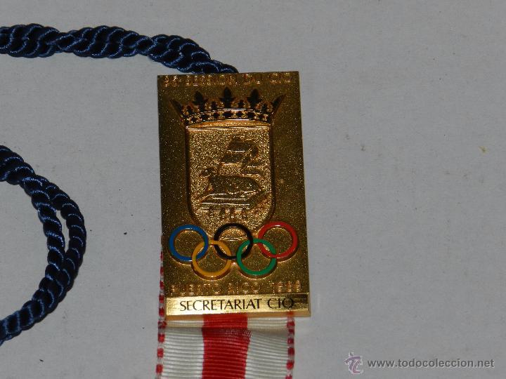 OLIMPIADA - MEDALLA 95 SESSION DU CIO PUERTO RICO 1989 - SECRETARIAT CIO ( OLIMPISMO ) ORIGINAL (Coleccionismo Deportivo - Medallas, Monedas y Trofeos - Otros deportes)