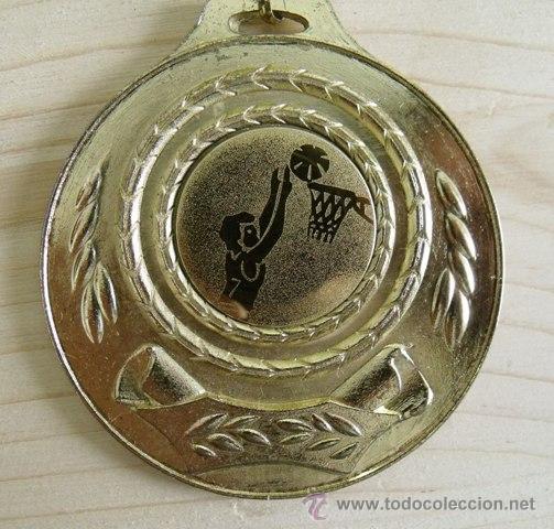 Coleccionismo deportivo: Medalla Baloncesto - Sin Grabar - Foto 3 - 49566828