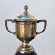Coleccionismo deportivo: TROFEO DEL KILÓMETRO LANZADO REAL MOTORISTA CLUB DE ESPAÑA, 1949. Lote 49586924