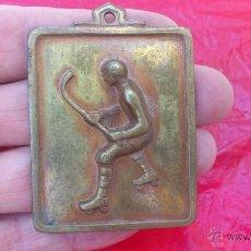 Coleccionismo deportivo: CADIZ MEDALLA PARTICIPANTE BRONCE 1 ª GRAN COPA HOCKEY SOBRE PATINES SEPTIEMBRE DE 1971 47X60MM. Lote 49603566