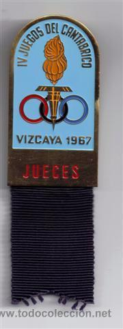 MEDALLA DE JUECES EN LOS IV JUEGOS DEL CANTABRICO 1964 - BILBAO (Coleccionismo Deportivo - Medallas, Monedas y Trofeos - Otros deportes)