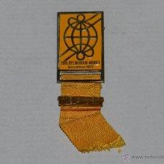 Coleccionismo deportivo: MEDALLA COPA DEL MUNDO DE HOCKEY BARCELONA 1971, PRENSA - RADIO - TELEVISION. Lote 50122932