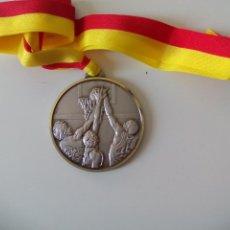 Coleccionismo deportivo: MEDALLA DE BALONCESTO, BASCKET, TROFEO DE METAL. GRABADA TOURNOI 6P PANATHLON CLUB GENEVE. Lote 51147392