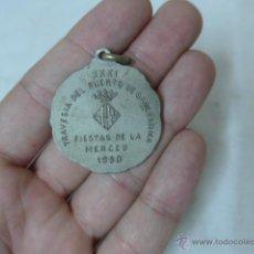 Coleccionismo deportivo: ANTIGUA MEDALLA TRAVESIA DEL PUERTO DE BARCELONA, FIESTAS MERCE, AÑOS 50, NATACION. Lote 51692453
