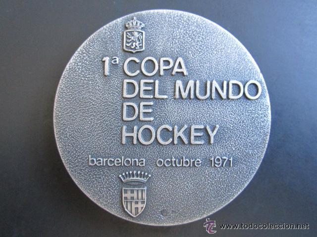 MEDALLA DE PLATA. 1º COPA DEL MUNDO DE HOCKEY. BARCELONA, 1971. (Coleccionismo Deportivo - Medallas, Monedas y Trofeos - Otros deportes)