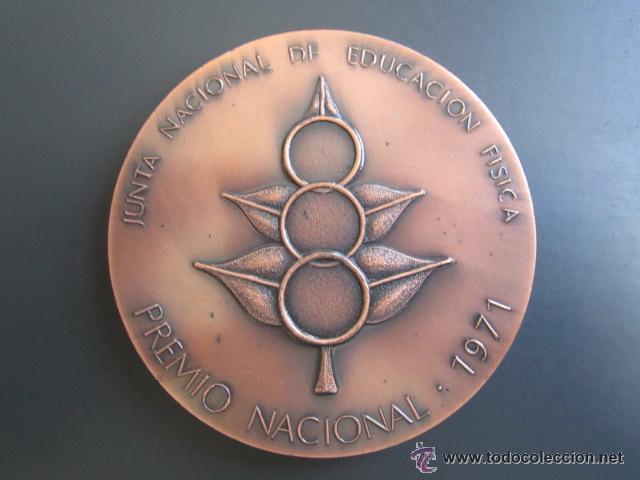MEDALLA EDUCACIÓN FISICA. PREMIO NACIONAL 1971. VALLMITJANA. 80 MM (Coleccionismo Deportivo - Medallas, Monedas y Trofeos - Otros deportes)