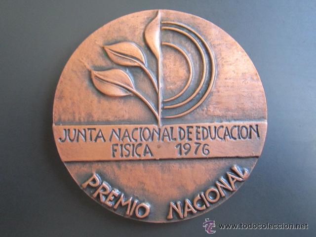 MEDALLA EDUCACIÓN FISICA. PREMIO NACIONAL 1976. VALLMITJANA. 80 MM (Coleccionismo Deportivo - Medallas, Monedas y Trofeos - Otros deportes)