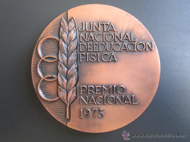 MEDALLA EDUCACIÓN FISICA. PREMIO NACIONAL 1973. VALLMITJANA. 80 MM (Coleccionismo Deportivo - Medallas, Monedas y Trofeos - Otros deportes)