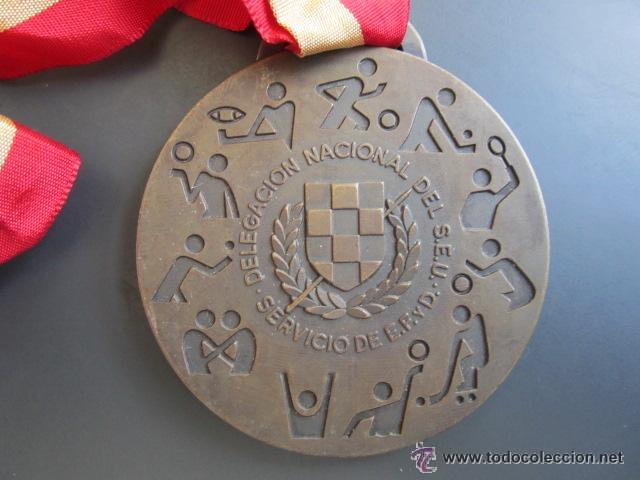Coleccionismo deportivo: MEDALLA DELEGACIÓN NACIONAL DEL SEU. JUN. DEPORTE, EDUCACIÓN FÍSICA - Foto 2 - 51799621