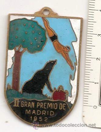 NATACIÓN. MADRID 1952. MEDALLA O LLAVERO ESMALTADO (Coleccionismo Deportivo - Medallas, Monedas y Trofeos - Otros deportes)