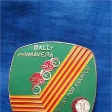 Coleccionismo deportivo: MEDALLA RALLY PRIMAVERA / PRUEBA POR EQUIPOS / METAL-LATÓN / PEÑA DIEZ X HORA / 1979. Lote 52917895
