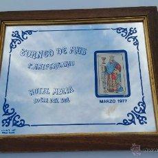 Coleccionismo deportivo: CUADRO ESPEJO PRIMER TORNEO DE MUS HOTEL MELIA COSTA DEL SOL - 1977 - 35 X 29. Lote 53084223