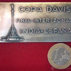 Coleccionismo deportivo: MEDALLA PLATA COPA DAVIS. FINAL INTERZONAS. INDIA - ESPAÑA. BARCELONA. NOVIEMBRE 1965. TENIS. Lote 53478548