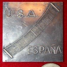 Coleccionismo deportivo: MEDALLA PLATA COPA DAVIS. ELIMINATORIA INTER ZONAS. BARCELONA 1965. TENIS. Lote 53478577