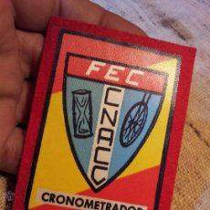 Coleccionismo deportivo: RARO PARCHE CRONOMETRADOR ORIGINAL FEDERACION ESPAÑOLA CICLISMO FEC---F.E.C . Lote 54808690