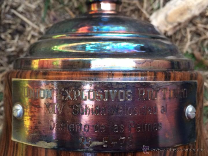 Coleccionismo deportivo: Trofeo Copa Union Explosivos Rio Tinto 1975 - Foto 3 - 54854944