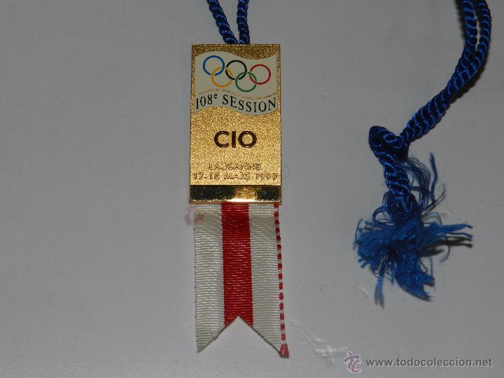 (M) MEDALLA OLIMPIADA DE CIO LAUSANNE 17 - 18 MARS 1999 , 108 SESSION , IMPECABLE ESTADO (Coleccionismo Deportivo - Medallas, Monedas y Trofeos - Otros deportes)
