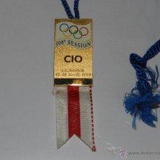 Coleccionismo deportivo: (M) MEDALLA OLIMPIADA DE CIO LAUSANNE 17 - 18 MARS 1999 , 108 SESSION , IMPECABLE ESTADO. Lote 54908498