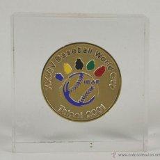 Coleccionismo deportivo: M-069 - MEDALLA EN METAL DORADO. XXXIV BASEBALL WORLD CUP. TAIPEI-TAIWÁN. 2001.. Lote 54948842