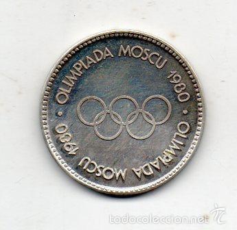 MEDALLA OLIMPIADA DE MOSCU. AÑO 1980. (Coleccionismo Deportivo - Medallas, Monedas y Trofeos - Otros deportes)