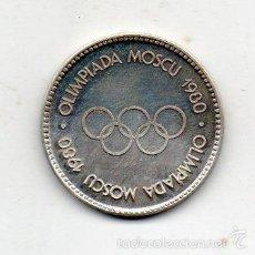 Coleccionismo deportivo: MEDALLA OLIMPIADA DE MOSCU. AÑO 1980.. Lote 57236659