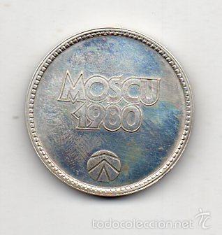 Coleccionismo deportivo: Medalla Olimpiada de Moscu. Año 1980. - Foto 2 - 57236659
