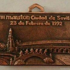 Coleccionismo deportivo: MEDALLA VIII MARATON CIUDAD DE SEVILLA.(1992).. Lote 57380861