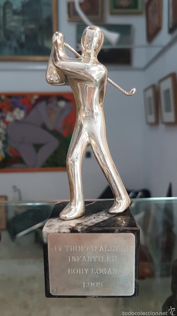 PEQUEÑA ESCULTURA-TROFEO EN PLATA 925, CON CONTRASTE. (Coleccionismo Deportivo - Medallas, Monedas y Trofeos - Otros deportes)