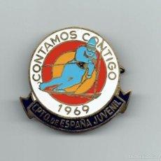 Coleccionismo deportivo: INSIGNIA CAMPEONATO ESPAÑA ESQUI DE 1969. Lote 57874757