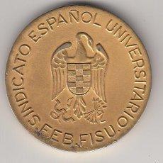 Coleccionismo deportivo: 1965 MADRID MEDALLA ORO SINDICATO ESPAÑOL UNIVERSITARIO SEU FEB FISU. CMUH CAMPEONATO BALONMANO. Lote 58084522