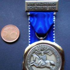 Coleccionismo deportivo: ANTIGUA MEDALLA SENDERISMO 3 INT. WALDMARSCH SCHILTBERG 1970 BAVIERA BAYERN. Lote 58115146
