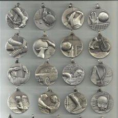 Coleccionismo deportivo: COLECCION 21 MEDALLAS PLATEADAS DE DIFERENTES DEPORTES.. Lote 66733626