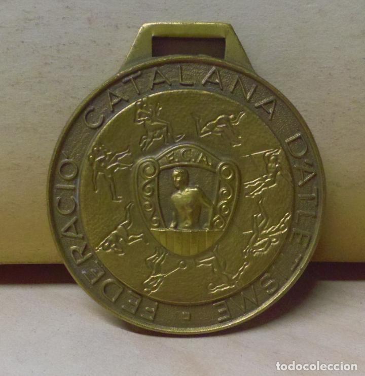 MEDALLA DE LA FEDERACIÓN CATALANA DE ATLETISMO - PALAFRUGELL JUNY 1992 CNAT DE CATALUNYA (Coleccionismo Deportivo - Medallas, Monedas y Trofeos - Otros deportes)