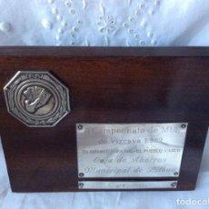 Coleccionismo deportivo: TROFEO DE MUS CAJA DE AHORROS MUNICIPAL DE BILBAO 1982. Lote 68889253