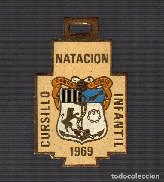 MEDALLA CURSILLO NATACIÓN INFANTIL FABRA Y COATS (BARCELONA · 1969) (Coleccionismo Deportivo - Medallas, Monedas y Trofeos - Otros deportes)