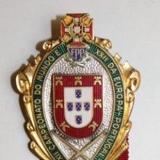 Coleccionismo deportivo: INSIGNIA. XII CAMPEONATO DO MUNDO E XXII DA EUROPA-PORTUGAL. PATINAJE. PORTO 1956. Lote 71176957