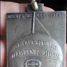 Coleccionismo deportivo: ANTIGUA MEDALLA? GRAN PREMIO VELA.MARTINI & ROSSI.ARENYS DE MAR.1974. Lote 77368997
