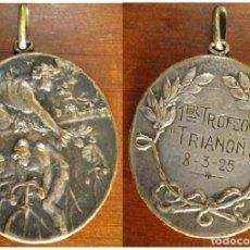 Collectionnisme sportif: 1925 VALENCIA. MEDALLA 1 TROFEO TRIANON. SOCIEDAD CICLISTA VELO CLUB CICLISMO BURJASOT BETERA. Lote 79552153