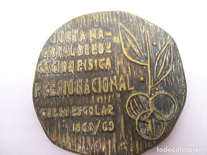 GRAN MEDALLA JUNTA NACIONAL DE EDUCACION FISICA PREMIO NACIONAL. CURSO ESCOLAR 1968/69 (Coleccionismo Deportivo - Medallas, Monedas y Trofeos - Otros deportes)