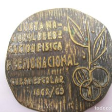 Coleccionismo deportivo: GRAN MEDALLA JUNTA NACIONAL DE EDUCACION FISICA PREMIO NACIONAL. CURSO ESCOLAR 1968/69. Lote 81917852