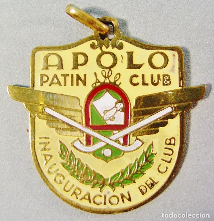 APOLO PATIN CLUB. BARCELONA. MEDALLA INAUGURACIÓN DEL CLUB. 15/9/1951. BUEN ESTADO. (Medallas deportivas antiguas, Monedas y Trofeos - Otros deportes)