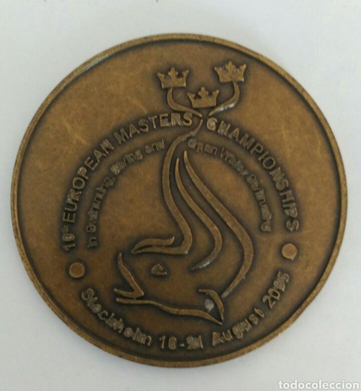 MEDALLA DE LA LIGA DE EUROPA DE NATACIÓN 2005. SUECIA. 10 EUROPEAN MASTERS. CHAMPIONSHIPS (Coleccionismo Deportivo - Medallas, Monedas y Trofeos - Otros deportes)