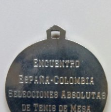 Coleccionismo deportivo: ENFRENTAMIENTO ESPAÑA COLOMBIA SELECCION ABSOLUTA TENIS DE MESA AÑO 1987. Lote 89438116