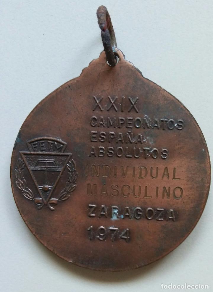 Coleccionismo deportivo: XXIX CTO. ESPAÑA ABSOLUTO IND. MASCULINO ZARAGOZA 1974 - Foto 2 - 89438868