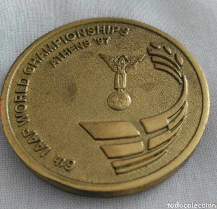 Coleccionismo deportivo: MEDALLA 6th IAAF WORLD CHAMPIONSHIPS ATHENS 1997. CAMPEONATO MUNDIAL DE ATLETISMO ATENAS. GRECIA - Foto 4 - 89844247