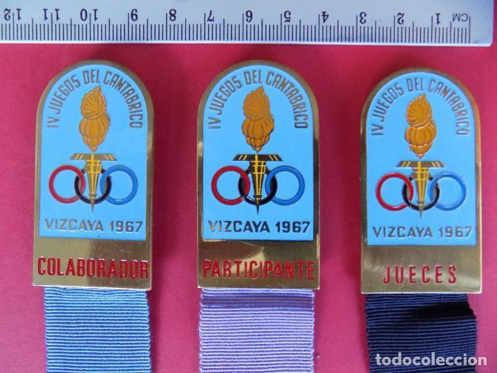 Coleccionismo deportivo: IV JUEGOS DEL CANTABRICO, VIZCAYA 1967 - 3 MEDALLAS, JUECES, COLABORADOR, PARTICIPANTE. R-6575 - Foto 2 - 92269000