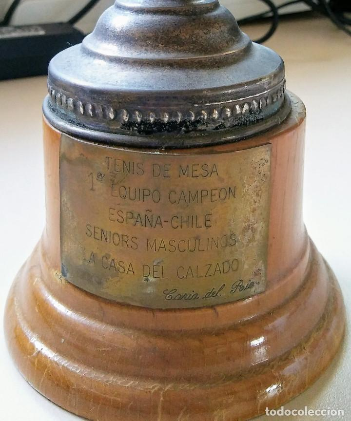 Coleccionismo deportivo: TROFEO DE TENIS DE MESA AÑO 1.977 - Foto 2 - 93754705